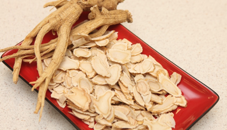 Dried and shaved ginseng root